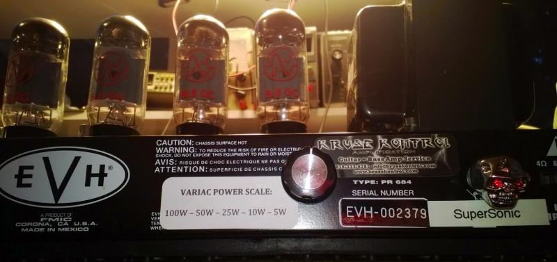 EVH III 100W head Variac SuperSonic mod
