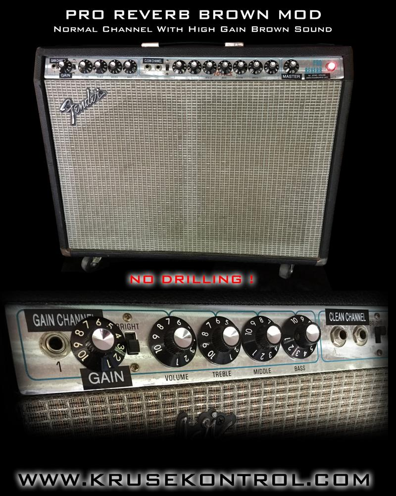 Fender Pro Reverb Brown Sound Mod Jens Kruse Kontrol Amplification