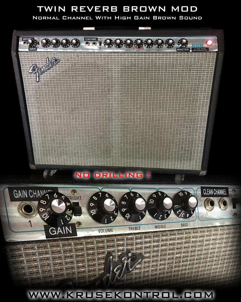 Fender Twin Reverb Brown Sound Mod Jens Kruse Kontrol Amplification