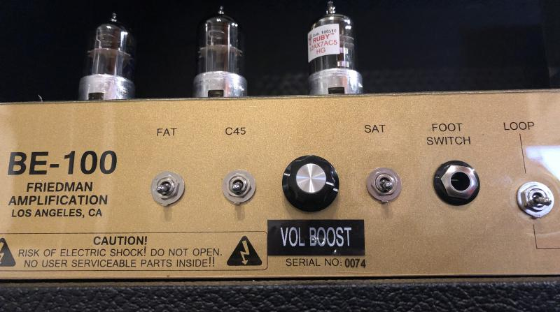 Friedman BE100 Mod Jens Kruse Kontrol Amplification Amps Volume Boost