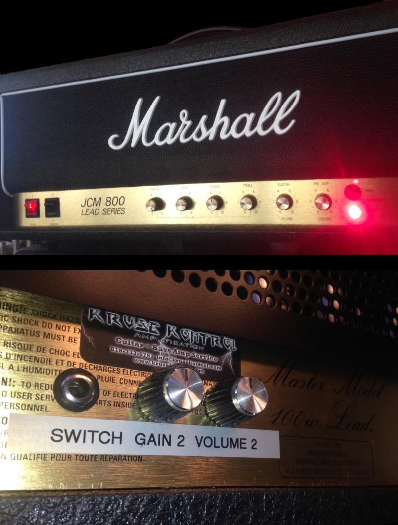 Marshall JCM800 with Kruse Gain Stage