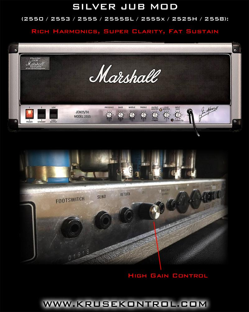 Marshall Silver Jub Mod High Gain Jens Kruse Kontrol Amplification